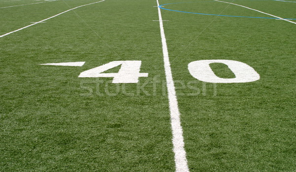 Football Field Forty Stock photo © hlehnerer