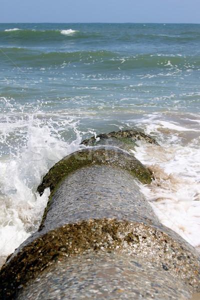Szennyezés szennyvíz cső helyes óceán víz Stock fotó © hlehnerer