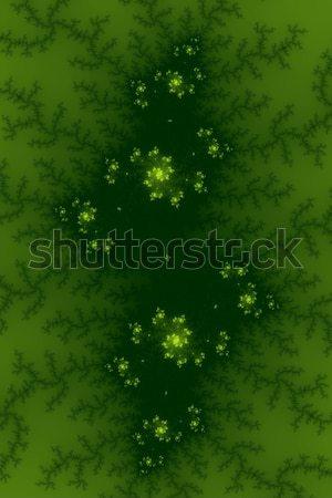 зеленый фрактальный изображение цветами дизайна фон Сток-фото © hlehnerer