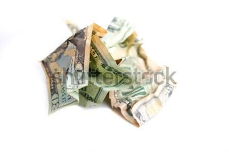 Pénz dollár papír fehér zöld pénzügy Stock fotó © hlehnerer