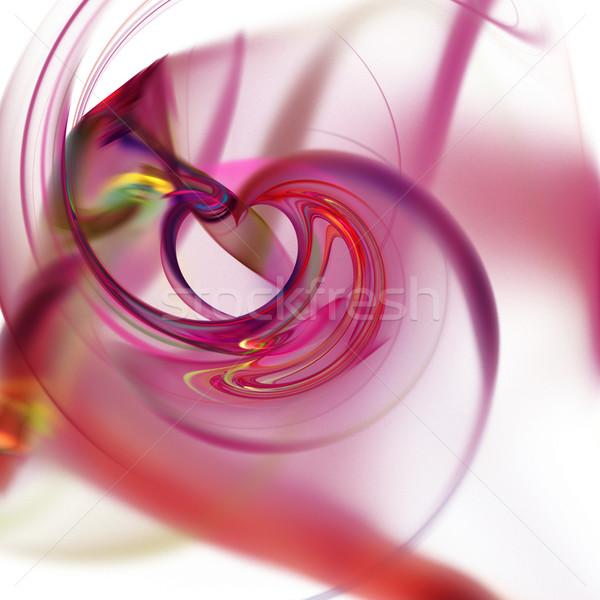 Fraktál absztrakt fekete vibráló színek textúra Stock fotó © hlehnerer