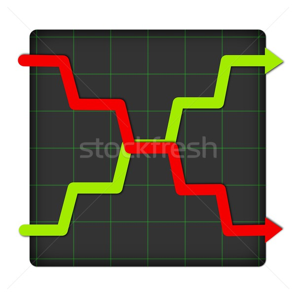 Icon Statistic Up And Down Stock photo © hlehnerer