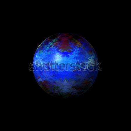 Abstrato azul globo cor branco espaço Foto stock © hlehnerer