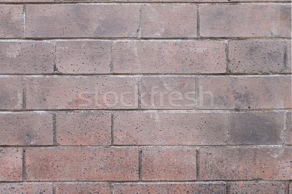 Muur Rood bakstenen muur regelmatig patroon Stockfoto © hlehnerer