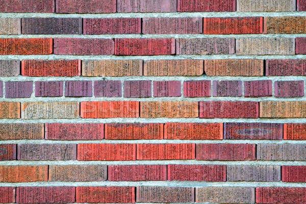 Stok fotoğraf: Kırmızı · tuğla · duvar · canlı · renk · model · doku