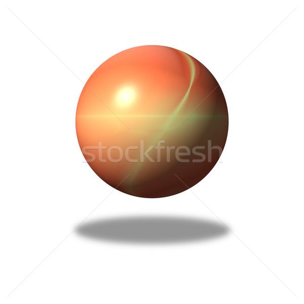 Fractal orange bâtiment monde espace balle Photo stock © hlehnerer
