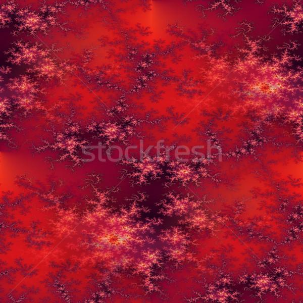Seamless Fractal Red Stock photo © hlehnerer