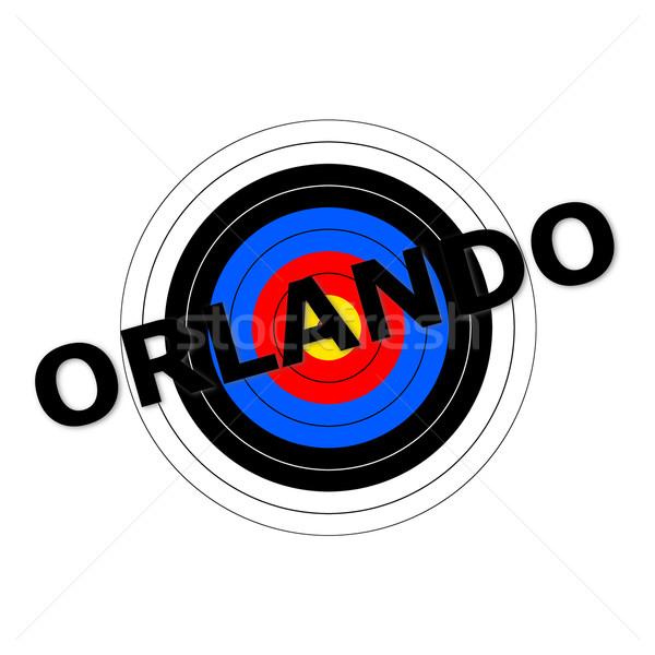 Orlando cél ír felirat kék klub Stock fotó © hlehnerer