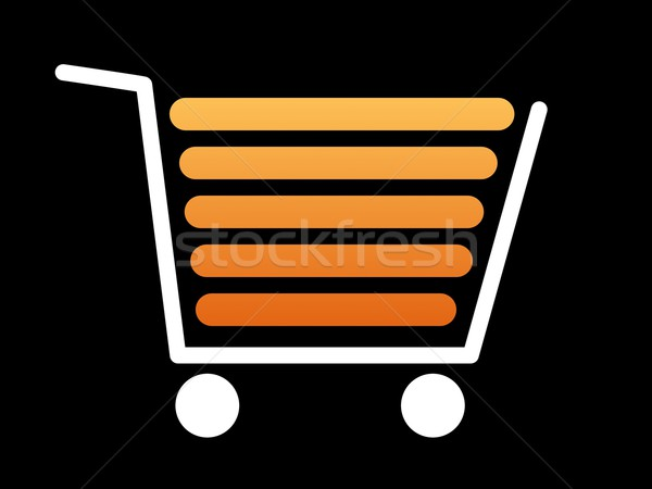 Shopping Cart White Stock photo © hlehnerer