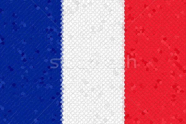 Franciaország zászló mozaik szín kék fehér Stock fotó © hlehnerer