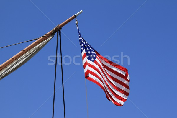 USA flag sail ship Stock photo © hlehnerer