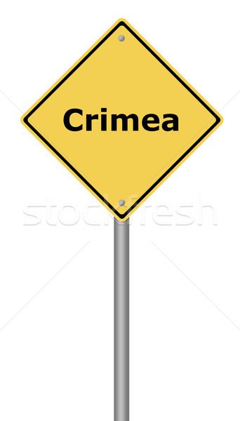 Warning Sign Crimea Stock photo © hlehnerer