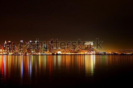San Diego Skyline Night Stock photo © hlehnerer