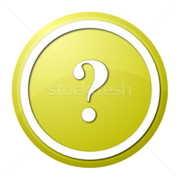 yellow question mark round button Stock photo © hlehnerer