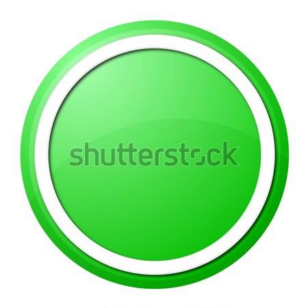 Groene knop witte ring web design presentatie Stockfoto © hlehnerer
