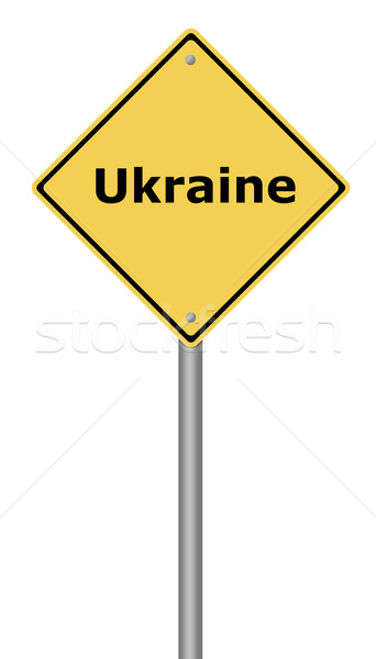 Warning Sign Ukraine Stock photo © hlehnerer
