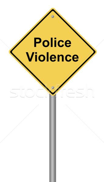 警察 暴力 黄色 文字 背景 ストックフォト © hlehnerer