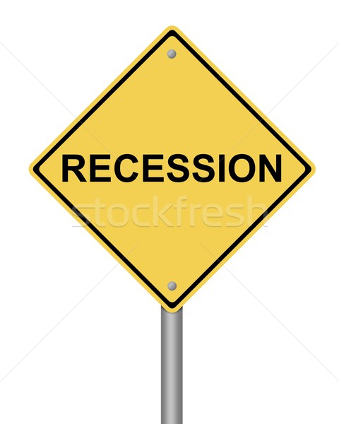 Warning Sign recession Stock photo © hlehnerer
