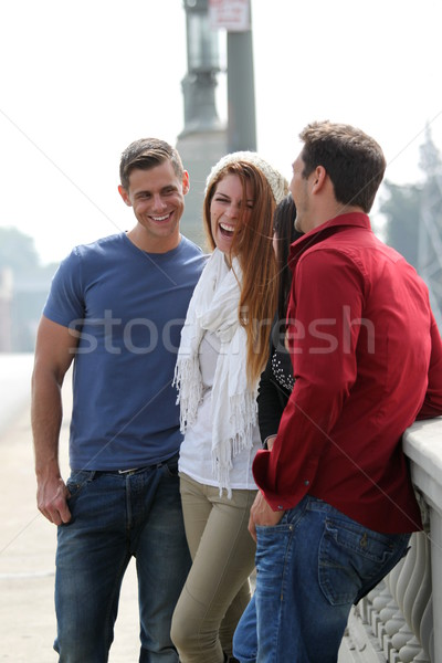 Friends Talking Stock photo © hlehnerer
