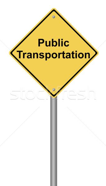 Public Transportation Warning Sign Stock photo © hlehnerer