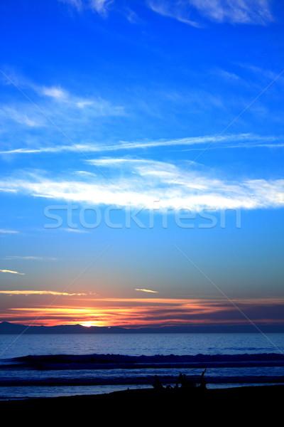 Sunset Ocean Blue Stock photo © hlehnerer