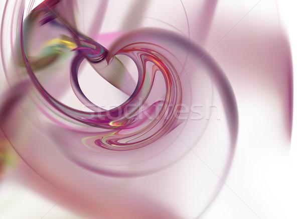 Fraktál absztrakt fehér vibráló színek textúra Stock fotó © hlehnerer