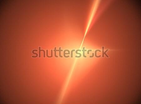 Fractal orange star dynamique couleur forme Photo stock © hlehnerer