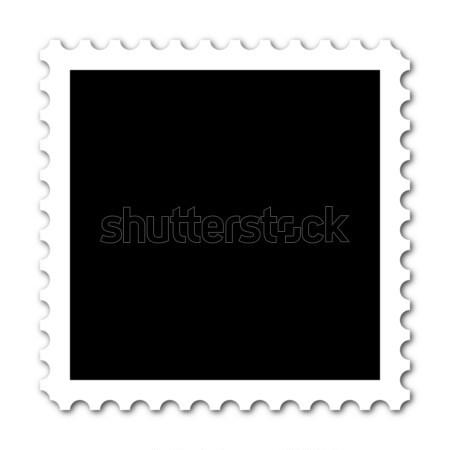 Stock fotó: Bélyeg · tér · copy · space · fehér · háttér · posta