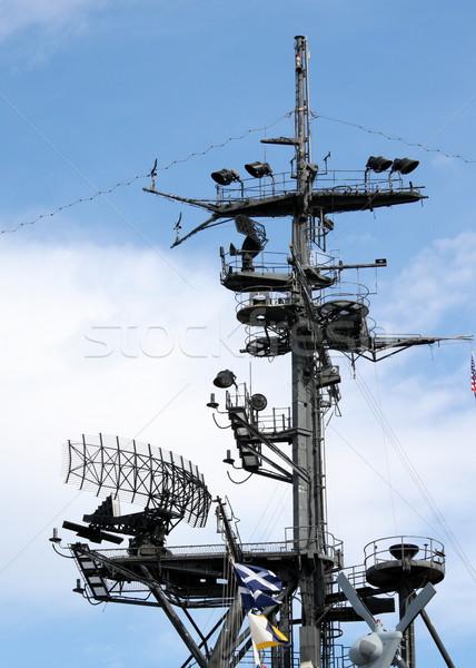 Radar San Diego radio wojny statku komunikacji Zdjęcia stock © hlehnerer