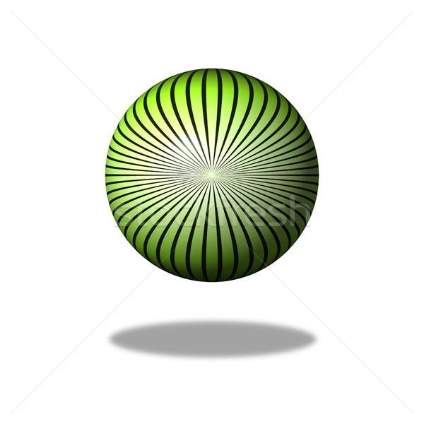 Groene star kleur ontwerp gebouw wereldbol Stockfoto © hlehnerer