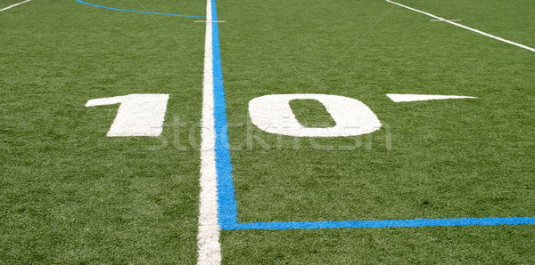 Football Field Ten Stock photo © hlehnerer