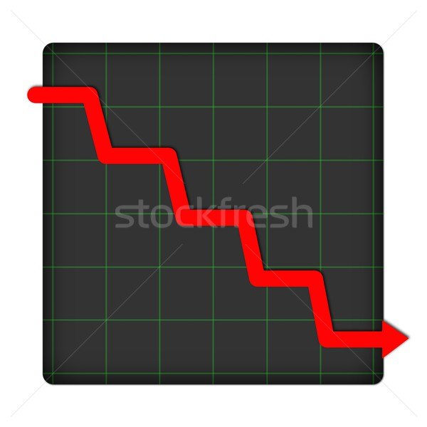 Icon Statistic Down Stock photo © hlehnerer