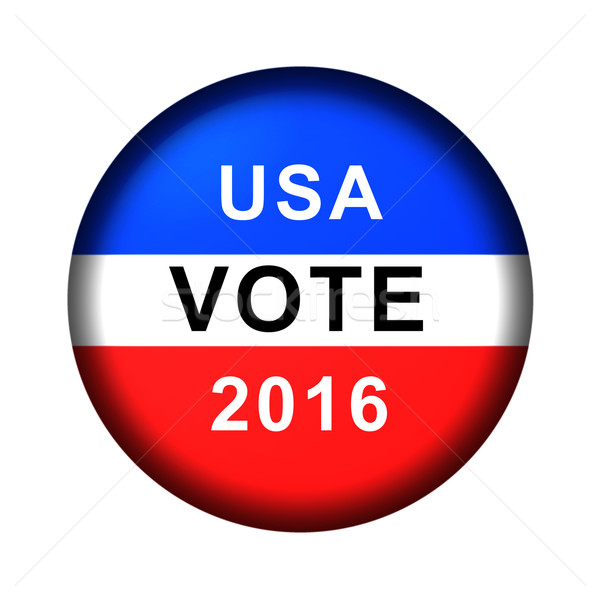 Vote Button 2016 Stock photo © hlehnerer