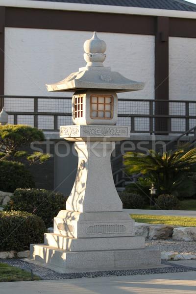 Japán kő pagoda belváros Los Angeles park Stock fotó © hlehnerer