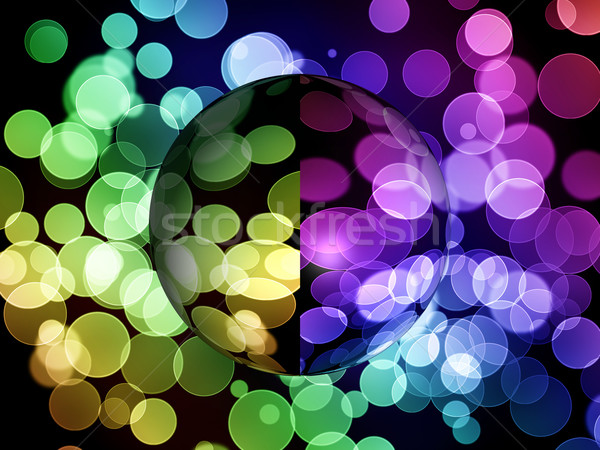 Absztrakt földgömb szín árnyék vibráló művészet Stock fotó © hlehnerer