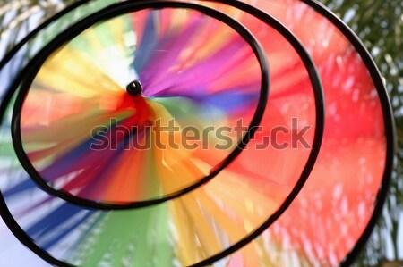 Vent roue coloré bleu amusement Rainbow Photo stock © hlehnerer