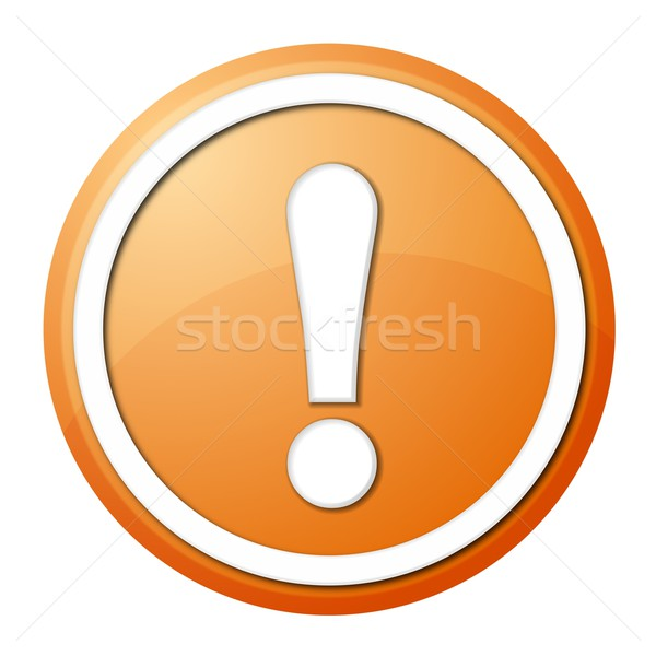 orange exclamation point button Stock photo © hlehnerer