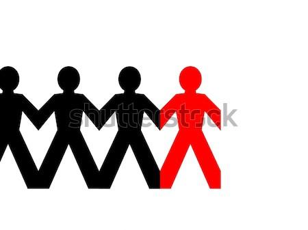 Group Man Red Stock photo © hlehnerer