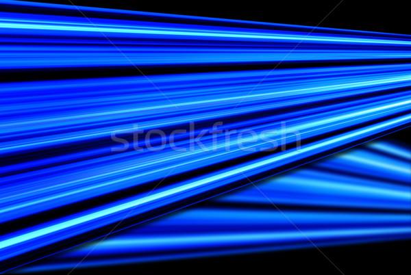 Kék absztrakt fekete izzó vonalak textúra Stock fotó © hlehnerer