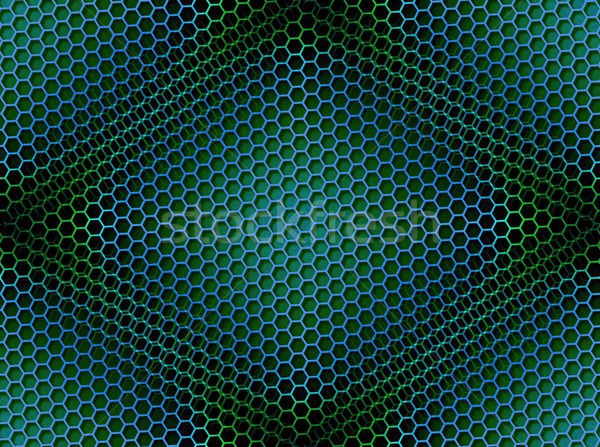 Stock photo: Honeycomb Background Seamless Blue Green
