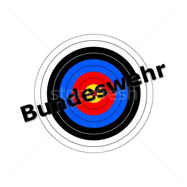 Target iscritto design sicurezza segno guerra Foto d'archivio © hlehnerer