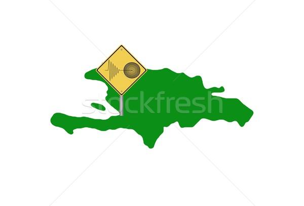 Haïti carte île ville médecine Photo stock © hlehnerer