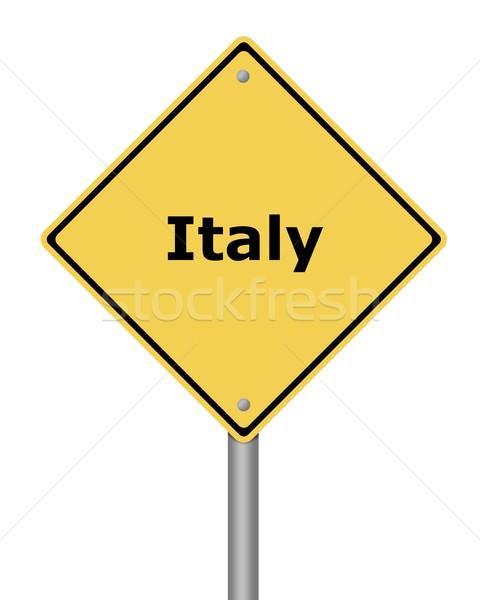 Warning Sign Italy Stock photo © hlehnerer