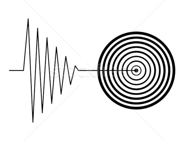 Zwarte aardbeving teken witte natuur achtergrond Stockfoto © hlehnerer