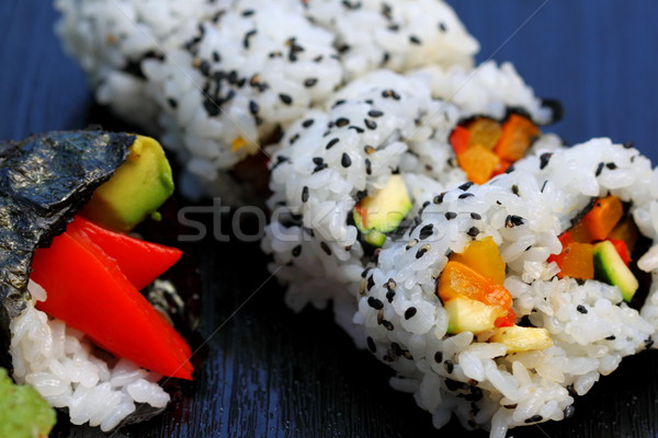 Sushi California rodar saludable popular comida japonesa Foto stock © hlehnerer