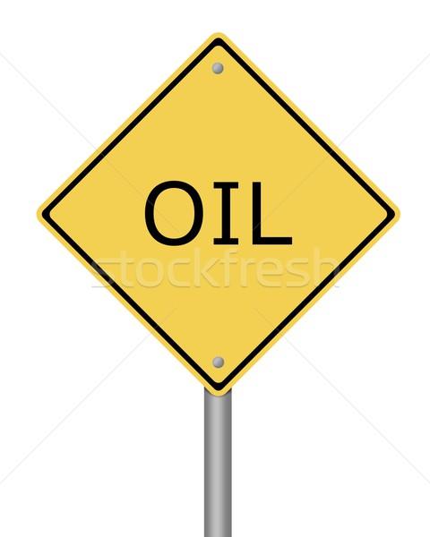 Warning Sign Oil Stock photo © hlehnerer