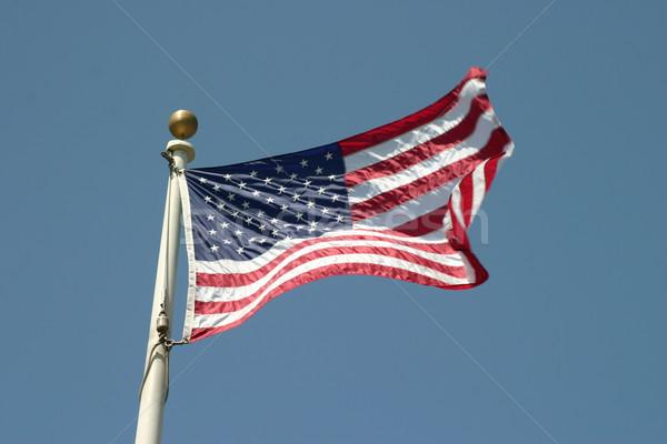 USA zászló Egyesült Államok Amerika égbolt csillagok Stock fotó © hlehnerer