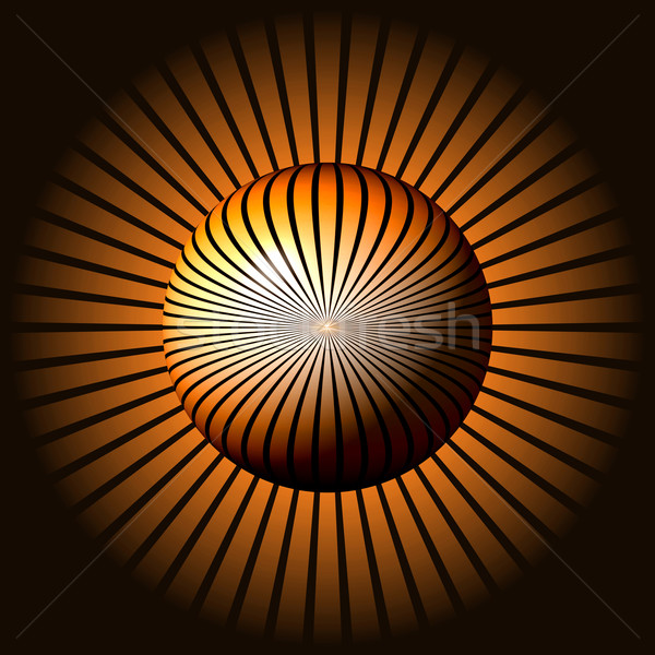 Abstract Brown Globe Stock photo © hlehnerer