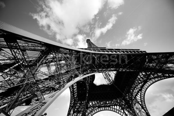 Эйфелева башня нижний Париж Франция широкоугольный мнение Сток-фото © Hochwander
