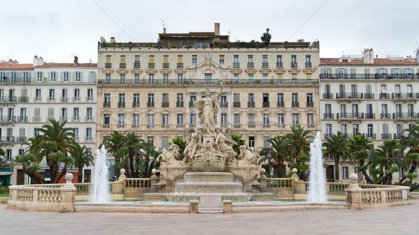 Place de la Liberté - fountain of Liberty square in Toulon Stock photo © Hochwander